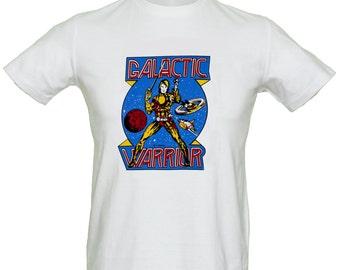 Superhero Sci Fi T Shirt Science Fiction Galactic Warrior Pinball Vintage Transfer Genuine Retro 70's