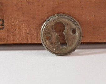 Small Vintage Brass Keyhole
