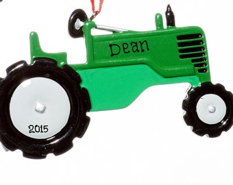 Tractor Personalized Ornament--Free Gift Bag Included!