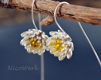 Silver earrings women's earrings jewelry earrings 925 gift SOR135