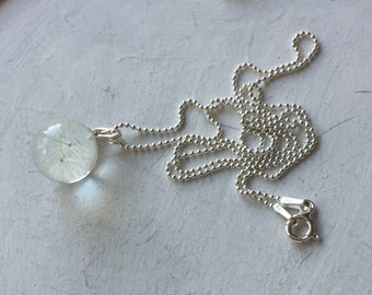 Dandelion Wish Necklace (Sterling Silver)