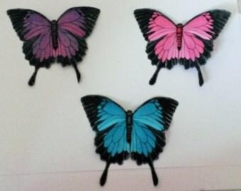 Handmade Blue Mountain Swallowtail Butterfly Hair-clip