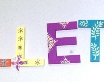 Custom Nursery Letters: Levtex Baby Zahara