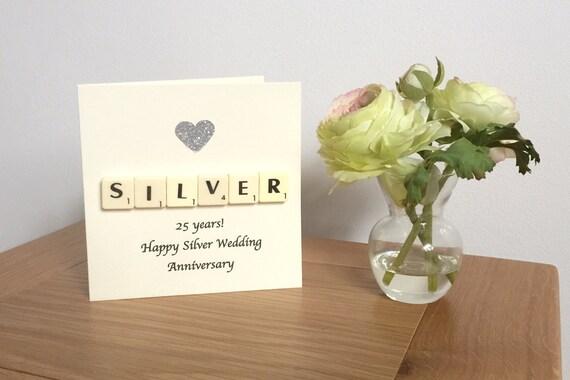 Th wedding anniversary card silver wedding anniversary