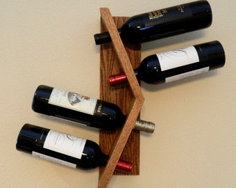 Wood Wall-mounted Wine Rack