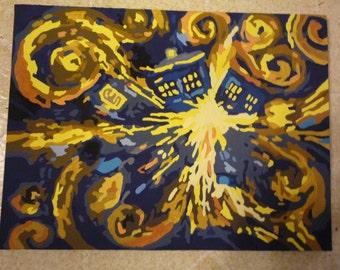 Exploding Tardis Painting