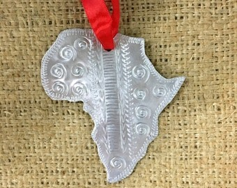 Tin Africa Ornament