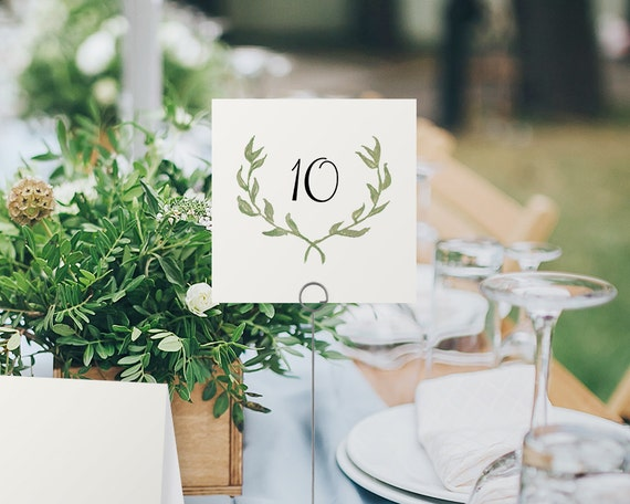 Printable table numbers wedding table number printable rustic for 4x6 table tent template
