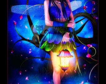 Dragonfly Fairy I - Fine Art Print