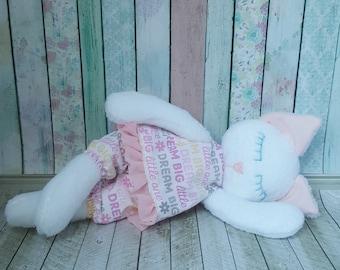 Stuffed Sleeping Kitty