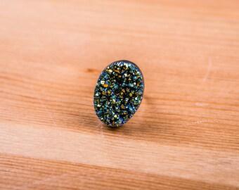 Ring quartz / Ring / jewelry /Galactic / Galaxy