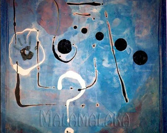 "Figure...""? "".. .pintura on canvas..."" technical mixed"