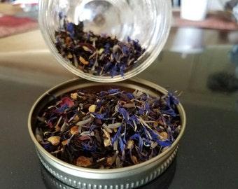 Morning blue tea