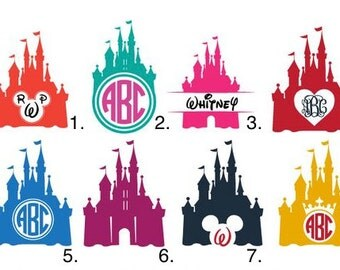 Personalized Disney Princess Castle Monogram Decal