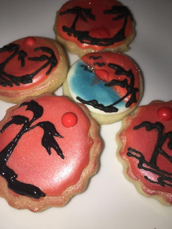 One Dozen sunset cookies