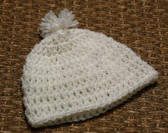 Newborn crocheted beenie
