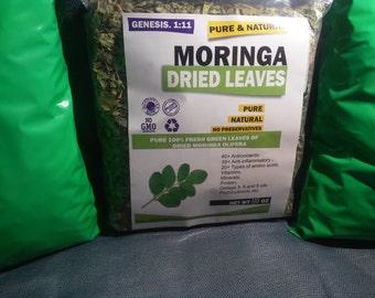 moringa dry leaves  hojas de moringa secas 16 oz