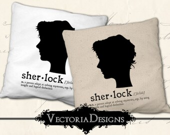 Sherlock dictionary digital transfer image iron on printable instant download digital collage sheet - VD0745