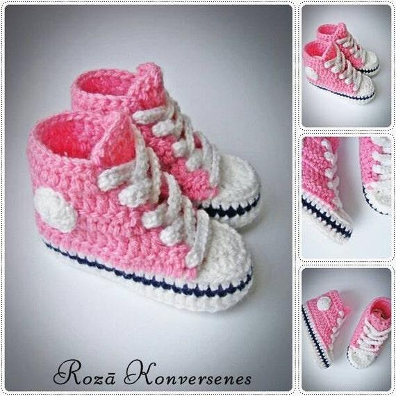 6b65e1066386 Crochet Baby Sneakers