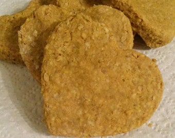 PUMPKIN and APPLE dog treats- 2 1/2 inch- Package of 24