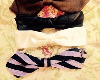4 1950's Men's Bowties. Clip- on.
