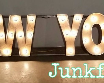 Marquee Lighted NEW YORK by Junkfx