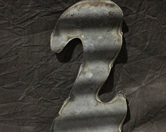 2  - Recycled Antique Roofing Tin Number by JunkFX
