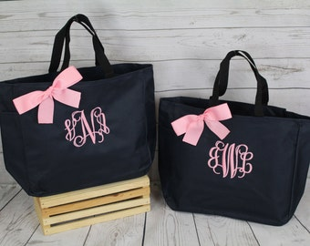 7 Personalized Bridesmaids Gifts Tote Bag- Bridesmaids Gifts- Personalized Bridemaid Tote - Wedding Party Gift - Name Tote-