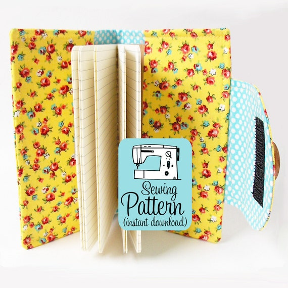 Swatch Book Cover PDF Sewing Pattern | Journal Notebook Cover Pattern in Two Sizes