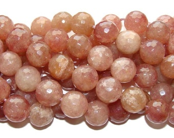 Strawberry Quartz Faceted Gemstone Beads