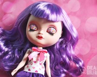 "OOAK Custom Icy Art Doll ""Buttercream"" by Dear Girlface Dolls Blythe Sister"