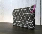 Mini Zip Pouch - Carbon Nordic Grid