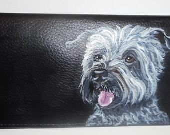 Glen Of Imaal Terrier Hand Painted Checkbook Cover Checkbook Holder