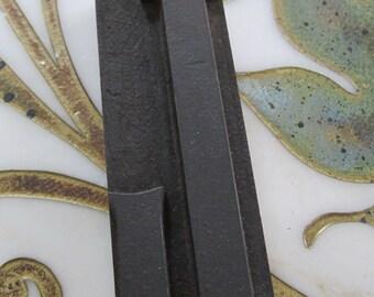 Large Letter L Antique Letterpress Wood Type Printers Block