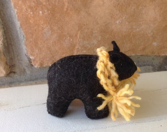 Black bear cub SINGLE with honey colored scarf