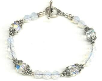 Swarovski Golden Shadow Crystal and Sterling Silver Bracelet *Studio Clearance*