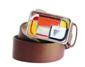 License Plate Belt Buckle Handmade Mosaic Vintage Recycled Metal Industrial Urban Rustic For Men or Women One of A Kind