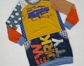 Size 10 upcycled girls New York sweatshirt style dress, girls clothing, children's clothing, Christmas gift, girls dress, holiday, ooak