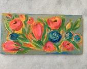 Bursting acrylic on reclaimed wood painting