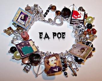 Edgar Allan Poe Mystery Charm Bracelet