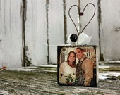 Engaged Christmas Ornament | Just Married Christmas Ornament | Our Love Story Christmas Ornament | Personalized Photo Christmas Ornament