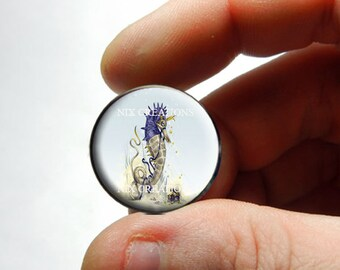 Seahorse Glass Cab Cabochon - Design 1  - for Jewelry and Pendant Making