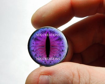 Glass Eyes -  Violet Sublime Dragon Glass Eyeball Taxidermy Doll Eye Cabochons - Pair or Single - You Choose Size