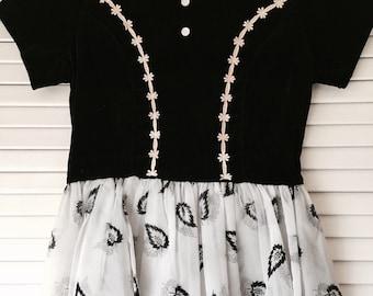 Vintage 60's Girl's Velvet Dress