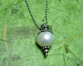 Sweet - Freshwater Pearl and Sterling Silver Necklace