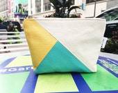Custom Order for Sam - Color Block Canvas Cosmetic Makeup Bag, 144 Collection