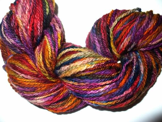 Knitting Handspun Wool : Handspun wool yarn for knitting crochet