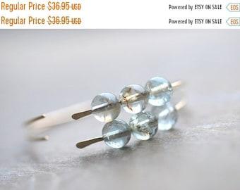 ON SALE Aquamarine Gold Hoop Earrings 14 Karat Goldfilled Moss Aquamarine Hoops Simple Modern Hoops Metal Gemstone Jewelry Gift for Her Ladi