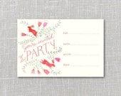 Bright Bunnies Printable Party Invitation