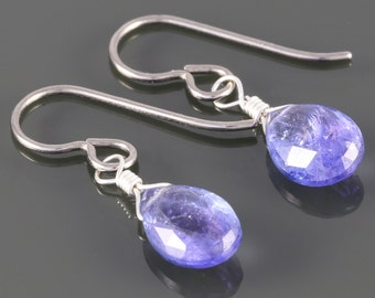 Genuine Tanzanite Earrings with Titanium Ear Wires - f16e037